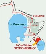 Схема проезда на базу отдыха Курочкино