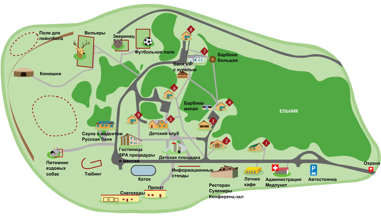 схема озера тургояк
