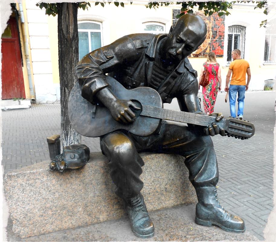 гитарист скульптуры на кировке