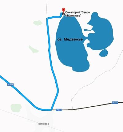 озеро медвежье санаторий схема проезда